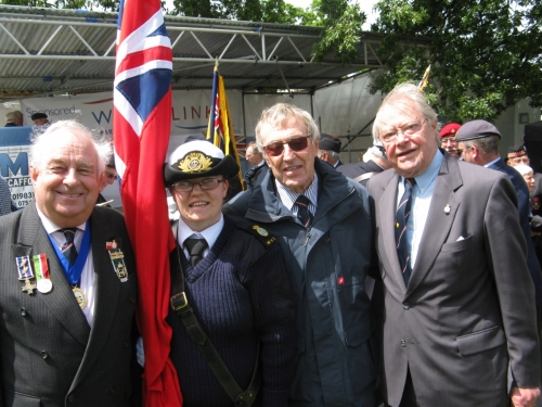 Armed Forces Day, Ryde June 2013. Martin Scott, Elizabeth Scott, Ted Sandle and Peter Burman.