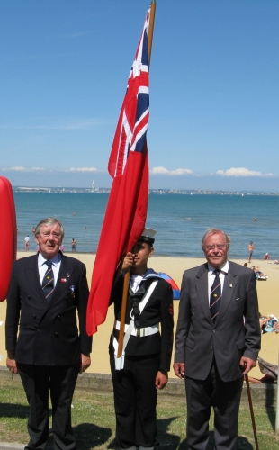 ARMED FORCES DAY June 2010, Graham Hall, Sea Cadet Dandy Marvin and Peter Burman at Ryde.