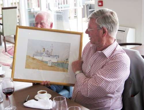 Farewell lunch and presentation to Paul Hartstone on his leaving committee after many years. May 2012.