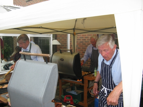'Cook Up' 2009. Three 'Celebrity Chefs' - Graham Hall, and the Hedley Brothers, Peter and Brian.