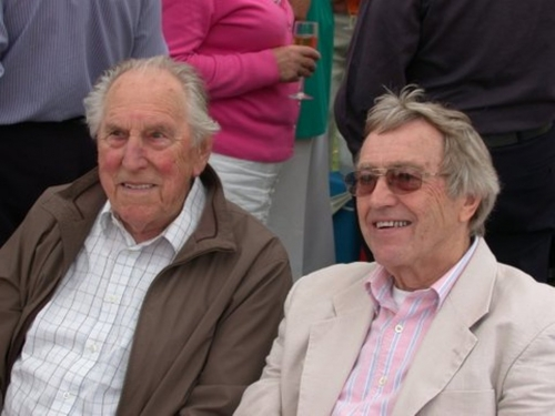 Theis Hoekstra and Ted Sandle at 2012 'Jubilee' Garden Party.