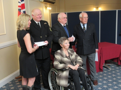 Presentation of donations to Sea Cadet Units, 22nd March, 2018. Pam Carpenter in chair.