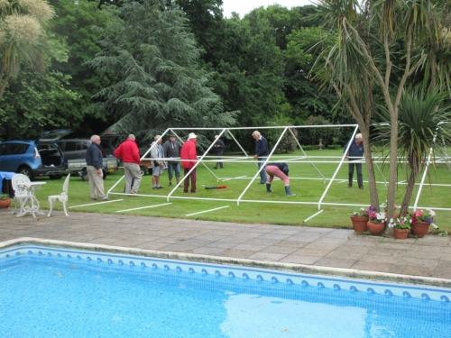 Erecting Marquee for the 2018 Garden Party - practice makes perfect!