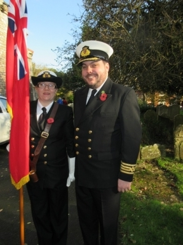 Elizabeth and Simon Brindle at the Cowes Remembrance service 10th November 2019