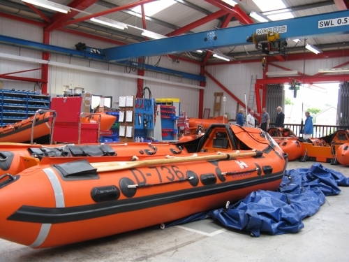 RNLI ISLC Interior of workshop July 2010